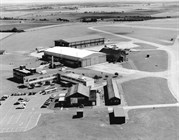 Thurleigh Airfield buildings which now form part of the Bedford Autodrome complex